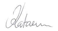 Katarinas signatur