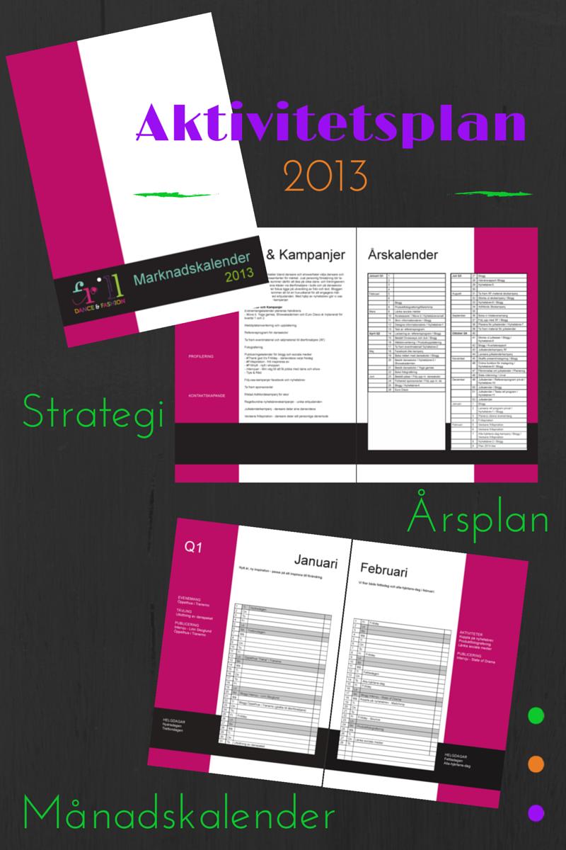 Aktivitetsplan Frill 2013