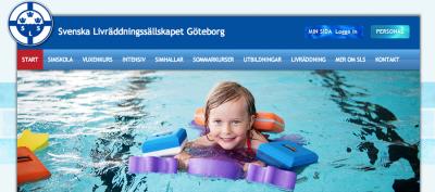 Svenska Livräddningssällskapet Göteborgs nya webbplats